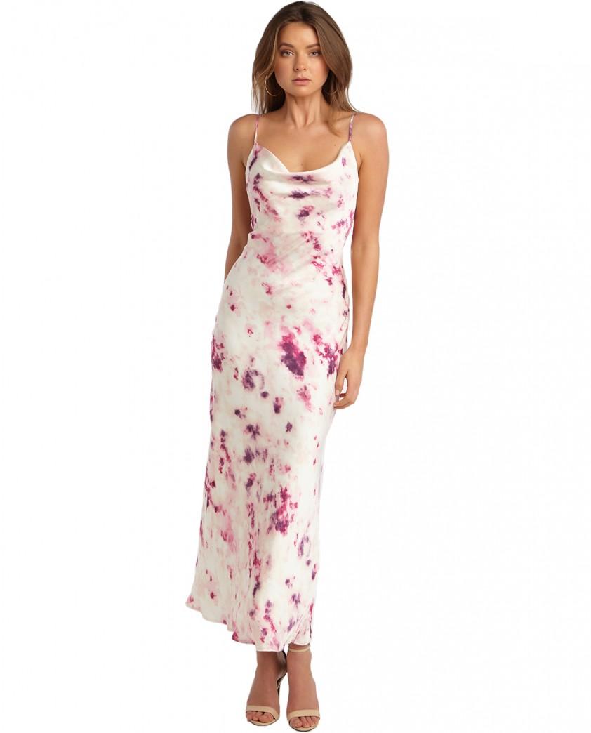 Bardot Purple Tie Dye Slip Dress