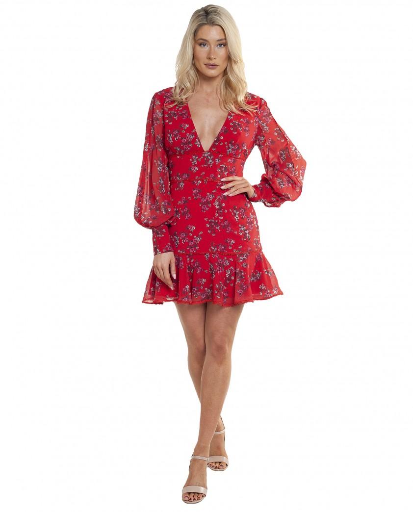 Keepsake The Label Heart And Soul LS Mini Dress