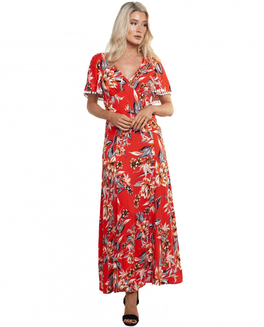 French Connection Poppy Claribel Floral Maxi