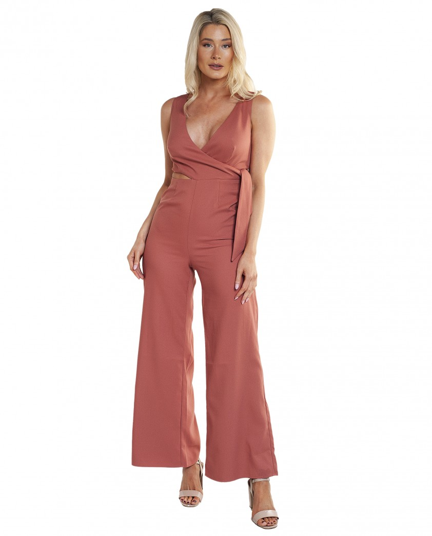Finders Keepers Breezeblocks Papaya Jumpsuit