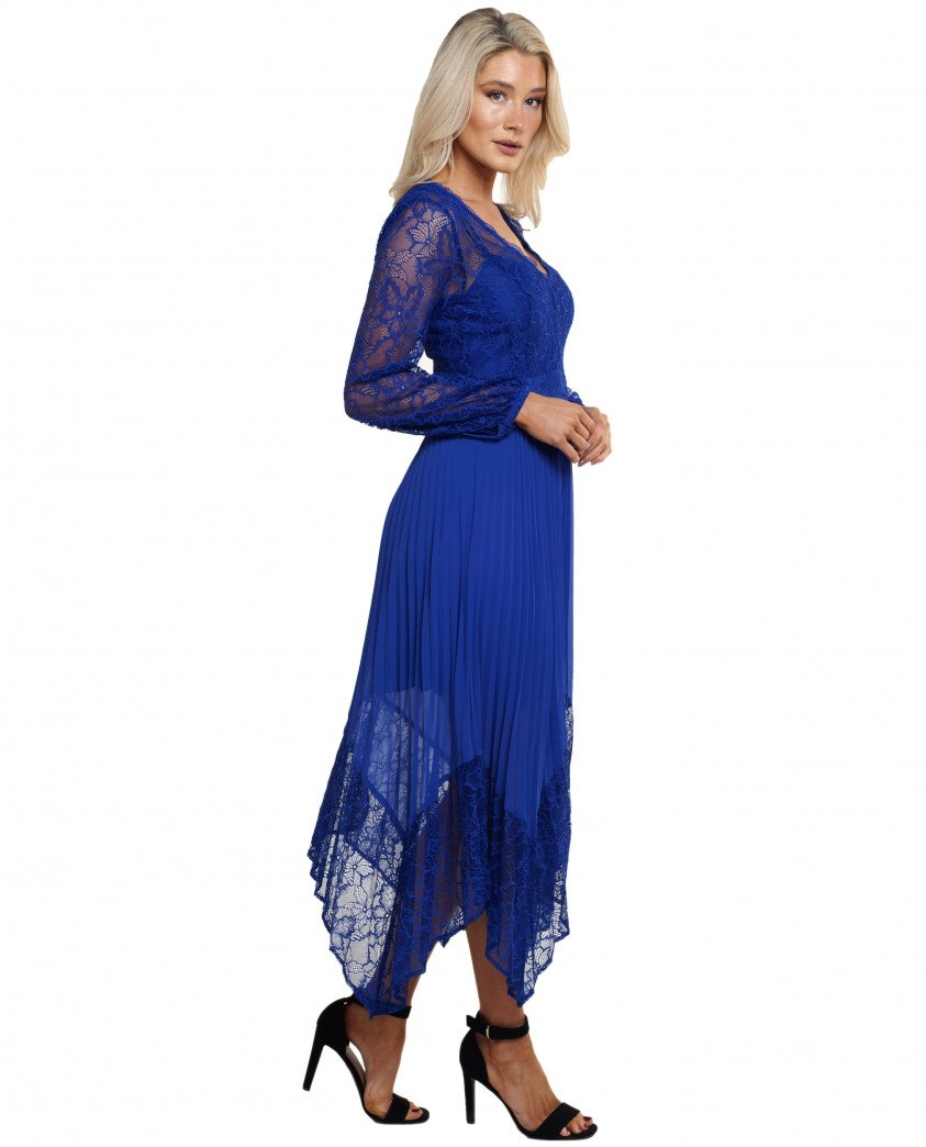 French Connection Clement Blue Bikita Lace Dress
