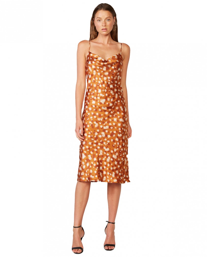 Bardot Sketched Spot Printed Slip Dress